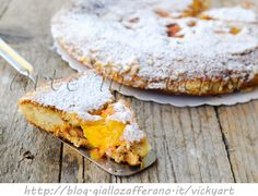 Torta di pesche in padella con cocco veloce vickyart ate in cucina