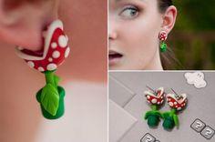 Des boucles d'oreilles plante Mario