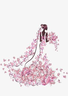 العروس عقد الزهور, جميلة الزفاف, زفاف رومانسيPNG صورة