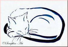 Katze Aquarell Zeichnung 2011-09-027