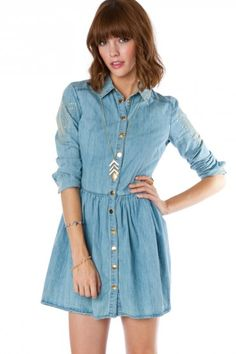 chambray dress.  cute.