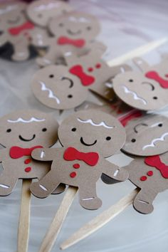 Gingerbread Man Christmas Themed Happy by Foolishworkerbee on Etsy, $8.50