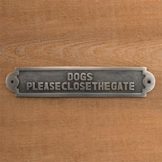 "Solid Brass ""Dogs Pl"