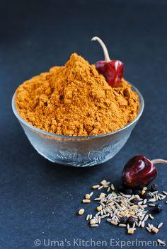 Sambar Podi / Sambar Masala Powder ~ My Kitchen Experiments