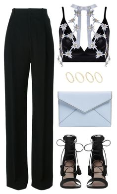 """""""Untitled #1687"""" by susannem ❤ liked on Polyvore featuring Boohoo, Úna Burke, Givenchy, Zimmermann, Rebecca Minkoff and Made"""