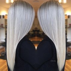 Silver Sylph by the Queen of Blondes @hairbymonika.q #hotonbeauty . . . . #blonde #silverblonde #platinumblondehair #platinumblonde #silverblonde #silverhair