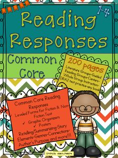 Common Core Reading Response higher order printables for fiction and non-fiction text designed to increase reading comprehension. These response sheets are great for literature groups, guided reading groups, centers, any book, whole group instruction, and practice for the DRA2 test. The main focus of this download is story elements and retelling/summarizing. Kid friendly language related to story elements, genres, connections, author's purpose, and more.