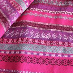 Colorful Stripe Fabric Aztec Fabric Tribal Fabric Ethnic Native Fabric Boho Bohemian Style Tablecloth Curtain Decor Red Pink-Half Yard
