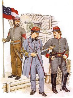 QM Sgt., Artillery - Major, Artillery - 2nd Lt., Artillery (1864)