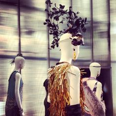 The Great Gatsby (2013)   Costumes (gowns, head ware, accessories, shoes, etc.) in display at Prada's Soho store.