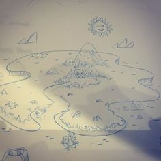Here is a sneak peak at the rough sketch of an awesome island illustration I'm working on inspired by the amazing @bearmanbeast!!! Going to be working all weekend on this guy! (: #illustration #illustrator #doodle #doodling #drawing #dribbble #sketch #sketchbook #socal #sandiego #westcoast #awesome by rockyroark