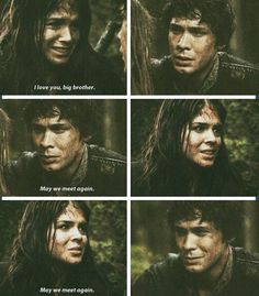 The 100 - Bellamy and Octavia Blake | such a sad scene. His face when he hugged her was just heartbreaking!