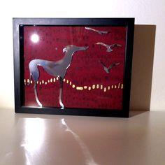elegantní chrt pozorující odlet ptáků | Ateliér B. KIOW Frame, Painting, Home Decor, Art, Picture Frame, Art Background, Decoration Home, Room Decor, Painting Art