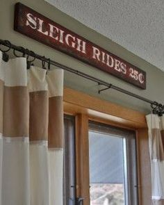 DIY antique looking Sleigh Ride Sign