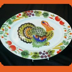 Vintage Holiday | Thanksgiving Enamelware Turkey Platter Hong Kong | Poshmark Christmas Turkey, Mid Century Bar, Basket Tray, Bottle Brush Trees, Holly Hobbie, American Greetings, Thanksgiving Feast, Serving Platters, Hand Blown Glass