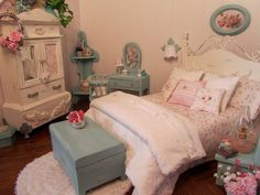 1:5 Scale Cottage Rose Bedroom - great inspiration.
