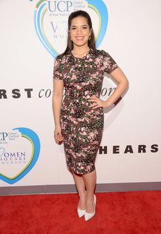 Pin for Later: No Really, Kristen Bell's Never Looked Better America Ferrera America Ferrera at the Women Who Care Event.