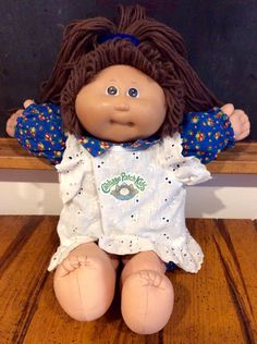 1980s Cabbage Patch Kids Brunette with Brown Eyed Doll, CPK, OAA, Cabbage Patch Kid, Cabbage Patch Dolls, Vintage Cabbage Patch Kids, Coleco by Lalecreations on Etsy
