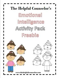 Emotional intelligence Freebie!   www.thehelpfulcounselor.com