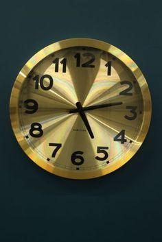Tick tock tick tock on pinterest wall clocks chalets for Large gold wall clocks