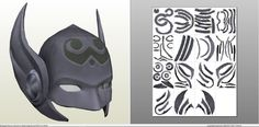 Papercraft template for Thor - Jane Fosters Helmet.