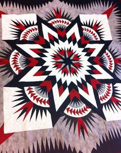 still not sure if I like the colours. but it is eye catching! Colchas Quilting, Quilting Projects, Quilting Designs, Lone Star Quilt, Star Quilts, Quilt Blocks, Amish Quilt Patterns, Medallion Quilt, Patriotic Quilts