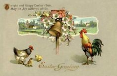 Old Easter Post Card — Easter Greeting (700×459)