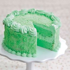 Buko Pandan Cake, I loved it when I got this for my birthday when I was younger...this or ube ..YUM!