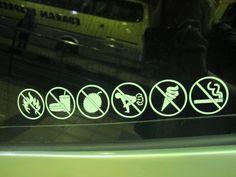 Malaysian bus.  Many rules.