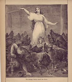 """8) Odysseus and his crew visited the witch-goddess Circe and she decides turned half of his men into animals after feeding them cheese and wine. Odysseus the stayed as a """"lover"""" with Circe for 5 years."""