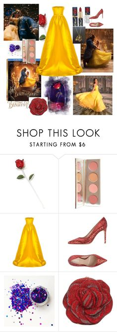 """""""Tales as Old as Time..."""" by sallytcrosswell ❤ liked on Polyvore featuring Disney, Emma Watson, L'Oréal Paris, Alex Perry, Lerre, Judith Leiber, BeautyandtheBeast and contestentry"""