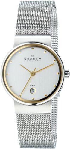 200e784f79109 Skagen Saias, Projetos, Relógios Skagen, Relógios Fashion, Dois Tons,  Relógios Legais