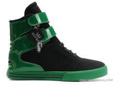 Supra TK Society X-Games High Tops Men's Shoe Black Green Fabulous