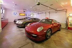 Sleek garage flooring and a clean space make it highly attractive