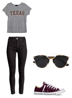 """chill studying"" by belladinamarca on Polyvore featuring Converse, Christian Dior, women's clothing, women's fashion, women, female, woman, misses and juniors"
