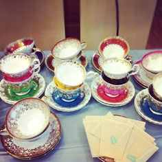 Beautiful tea cups --mainly Royal Albert's Regal Series