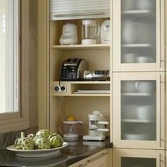 Uplifting Kitchen Remodeling Choosing Your New Kitchen Cabinets Ideas. Delightful Kitchen Remodeling Choosing Your New Kitchen Cabinets Ideas. Kitchen Appliance Storage, Kitchen Cabinetry, Small Kitchen Appliances, Appliance Garage, Kitchen Pantry, Kitchen Organization, Kitchen Sink, Appliance Cabinet, Organization Ideas