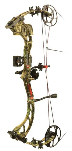 PSE - Drive   Sean's bow in camo.. except we upgrated his sights and rest. Now he has the complete set up like me. :)