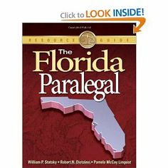 The Florida Paralegal by Wm. Statsky