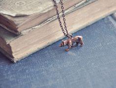 California Golden Bear, necklace