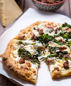 Broccoli Rabe, Sausage and Ricotta Pizza | girlinthelittleredkitchen ...
