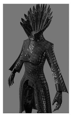 Ravenna's armor for Snow White and the Huntsman, by Colleen Atwood: Arte Fashion, Gothic Fashion, Fashion Design, Fashion Fashion, Larp, Mode Sombre, Looks Dark, Elfa, Estilo Rock