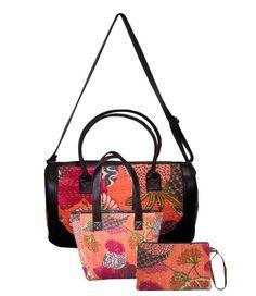 New Year Sale 2018 Women's Handbag Shoulder Bag Messenger Kantha Bag 3 Pcs Set Clutch Bag, Tote Bag, New Years Sales, Gym Bag, Shoulder Bag, Handmade, Bags, Purses, Hand Made