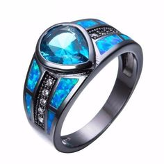 Ocean Blue Rain Drop Opal Ring is perfect for you. It boasts the dynamic combination of Opal and Zircon which results to absolute perfection. Quartz Engagement Ring, Yellow Engagement Rings, Shop Engagement Rings, Sea Glass Jewelry, Jewelry Rings, Jewellery Bracelets, Choker Necklaces, Ankle Bracelets, Jewelery