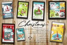 Christmas Posters Creator PSD by elfivetrov on @creativemarket