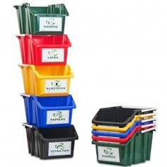 Set Mini Contenedores Reciclaje