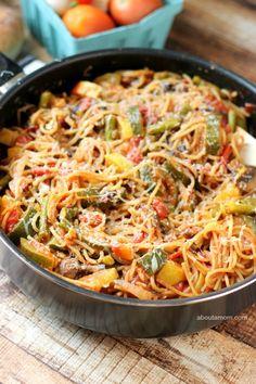 One Pot Loaded Veggie Pasta