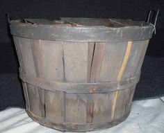 Water Stained Basket