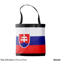Shop Flag of Slovakia Tote Bag created by AwesomeFlags. Flag, Reusable Tote Bags, Science, Flags