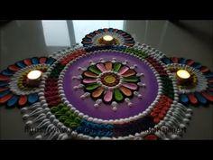 Navratri ,Diwali Special multicolored Rangoli Designs using spoon